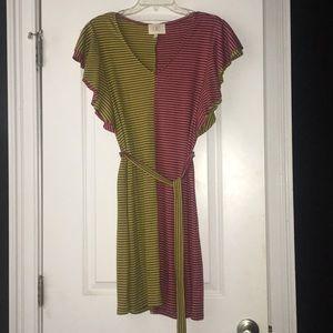 Anthropologie Ella Mara Flutter Sleeve Dress